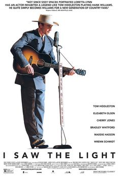 I Saw the Light, the story of legendary country-western singer Hank Williams, who in his brief life created one of the greatest bodies of work in American music. The film chronicles his meteoric rise to fame and its ultimately tragic effect on his health and personal life.