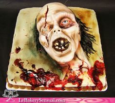 Pastel cabeza de zombie