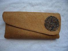 Handmade African Evening Handbag (golden brown) #Handmade #EveningBag