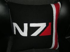 Mass Effect N7 Pillow by 8BitLane on Etsy, $20.00