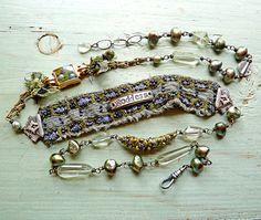 Goddess Bracelet/Necklace Wrap. $395.00, via Etsy.   Nina Bagley