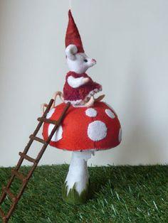 op een grote paddenstoel - Oog van de Naald