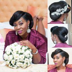 www.loveweddingsng.com Black Brides Hairstyles, African Wedding Hairstyles, Side Braid Hairstyles, Wedding Bun Hairstyles, Hairdo Wedding, Great Hairstyles, Down Hairstyles, Wedding Blog, Wedding Makeup Looks
