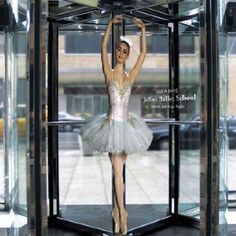 Great door advertising for a Ballet School