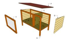Outdoor Rabbit Hutch Plans | Free Outdoor Plans - DIY Shed, Wooden Playhouse, Bbq, Woodworking Projects