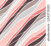 Seamless pattern. Texture of pastel wavy diagonal stripes. Stylish abstract background by Curly Pat, via ShutterStock