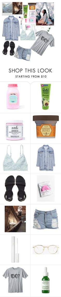 """""""Untitled #235"""" by grumpychick2000 ❤ liked on Polyvore featuring Sugar Milk Co, Mod Bath and Body, Skinfood, KEEP ME, Monki, Pull&Bear, ASOS, Sphynx, Garnier and Boohoo"""