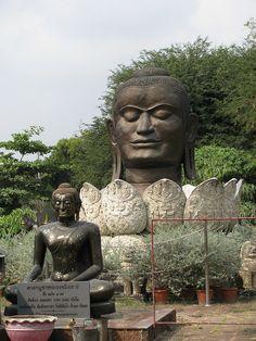 Bronze Buddah Head, Wat Thammikarat, Ayutthaya