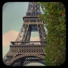 vintage-inspired photo of the eiffel tower