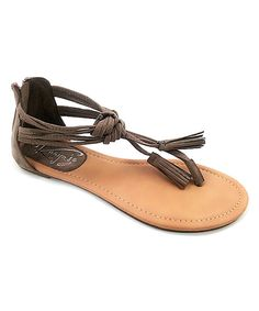 3dec0724ba03fd Look at this Ositos Shoes Cognac Tassel-Accent Sandal on  zulily today!  Girls