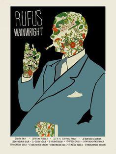 RUFUS WAINWRIGHT BLUE MAN USA TOUR « by MARK MCDEVITT - Concert Poster / Gig Poster « Methane Studios