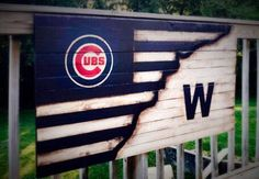 Chicago Cubs Flag Chicago Cubs Banner Chicago Cubs Sign