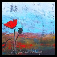 "Gourmet Art Studio Blog Mixed Media Painting ""Wild Poppies"""