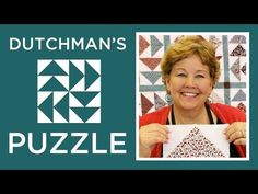 The Dutchman's Puzzle Quilt: Easy Quilting Tutorial with Jenny of Missouri Star Quilt Co - YouTube