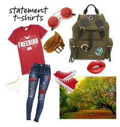 """T-Shirt"" by al355a on Polyvore featuring Pilot, Burberry, Hermès, Converse, Nevermind and Charlotte Russe"