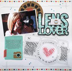 Lens Love Scrapbook Layout | Cari Locken for Silhouette
