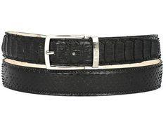 Paul Parkman  Men/'s Navy Suede Belt Hand Made