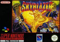 Skyblazer, PAL cover, super nintendo, snes, super nes