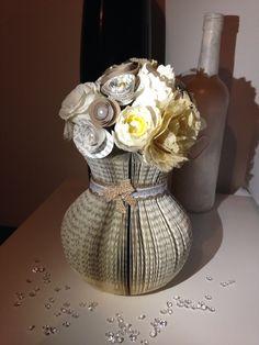Vase by me, papercut vase handmade flowers