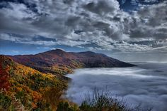 "All Fall peaks of Pelion"" between heaven,Volos Greece"