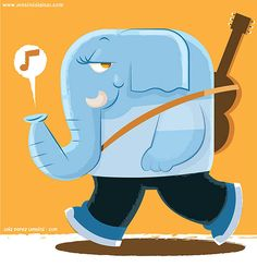 Cartoon elephant character for kids...