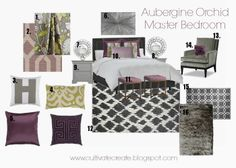 Cultivate Create: Aubergine Orchid Digital Design Board