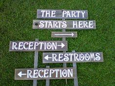 Hudson Valley Wedding - 10 Fun Backyard Barbecue Ideas for Your Summer Wedding - wooden signs Festival Wedding, Wedding Dj, Rustic Wedding, Wedding Ideas, Summer Wedding, Wedding Inspiration, Chic Wedding, Wedding Photos, Wooden Wedding Signs