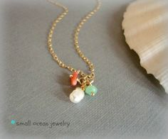 sea charm gold necklace ($25)