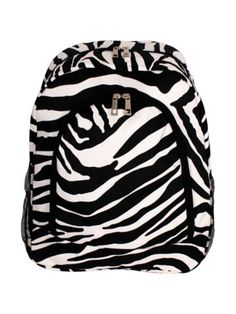$13.75 Zebra Large Backpack with Black Trim