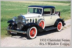 1932 Chevrolet Series BA 5 Window Coupe