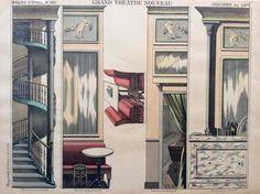 RARO-Antico-Pellerin-Imagerie-d-epinal-Toy-carta-Teatro-Cafe-PAESAGGIO-FOGLIO