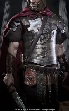 roman centurion in segmentata armor © CollaborationJS / Arcangel Images
