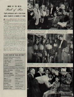 """1941 LIFE Article, Movie Of The Week: """"Ball of Fire"""""""