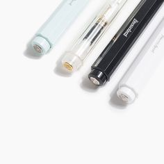 With compact and ergonomic German design, this iconic click-pen fits perfectly in your hand and glides across the page. Ballpoint Pen, Industrial Design, Objects, Desk, Inspired, Paper, Beautiful, Color, Products