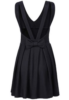 Shop Black V Neck Sleeveless Back Bow Dress online. Sheinside offers Black V Neck Sleeveless Back Bow Dress & more to fit your fashionable needs. Free Shipping Worldwide!