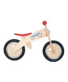 This Red Wood SKUUT Balance Bike is perfect! #zulilyfinds