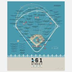 Bronx Baseball Breakdown 18x24 now featured on Fab.
