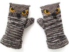 owl mittens! <3
