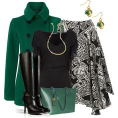 FallMerger Black&Green, created by hollyhalverson on Polyvore