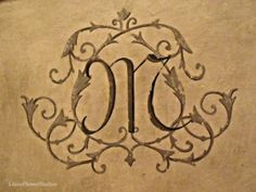 Beautiful monogram