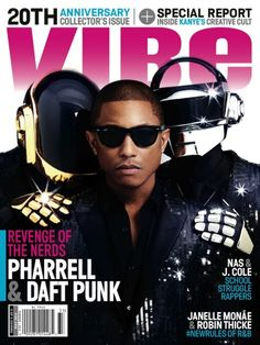 SPATE The #1 Hip Hop Magazine Music and News Blog: Hip Hop News: Pharrell covers Vibe with Daft Punk