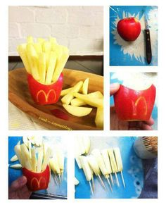 Appel friet van de mac Donald