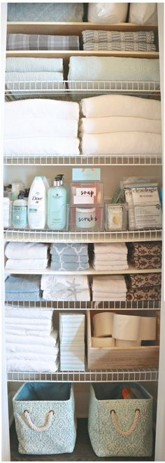 Linen Closet Organizing: Create More Storage