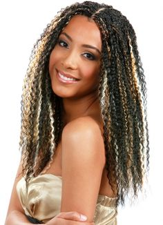 Bobbi Boss - Bohemian Curl Available in a variety of colors Crochet Braids, Crochet Braid Styles, Crochet Hair, Crochet Curl, Freetress Bohemian Braid, Bohemian Braids, African Hairstyles, Latest Hairstyles, Weave Hairstyles