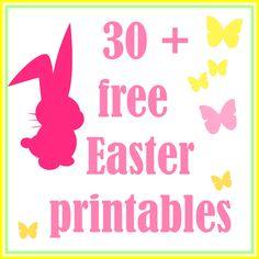 30 + FREE easter printables - kostenlos ausdruckbare Ostervorlagen