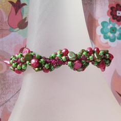 Spiral Pearl Bracelet Pattern