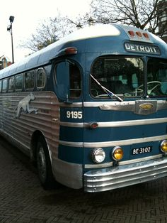 old greyhound bus  When i was a kid we used to ride a bus like this
