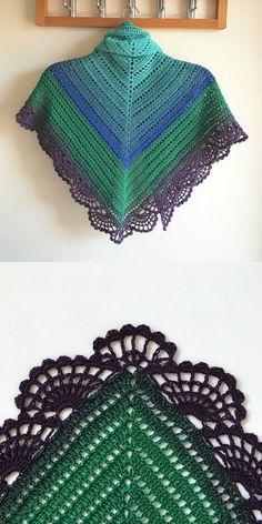 The Peafowl Feathers Shawl Free Crochet Pattern