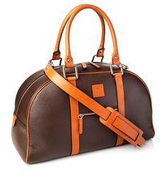 Geo. F. Trumper - Holdall Chocolate and Tan Calf Leather