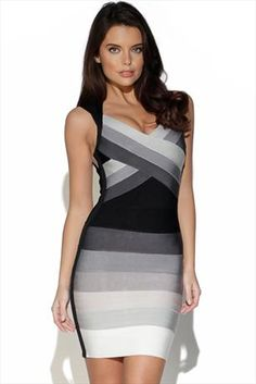 Just had to pin this Grey and Black Gradient Bandage Dress from www.vestryonline.com/